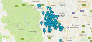map of baby clinics