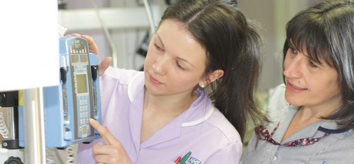 nurses on a ward
