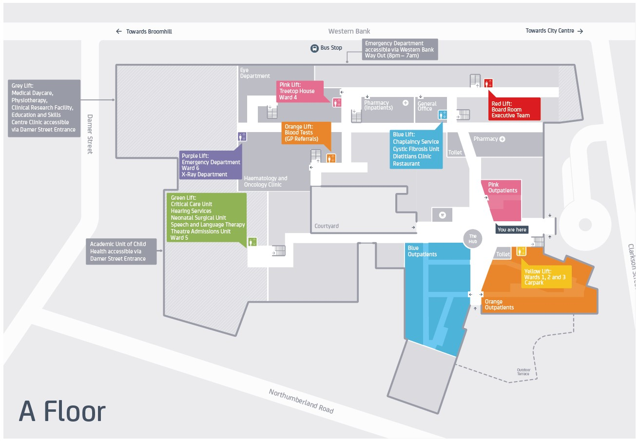 Royal Hallamshire Hospital Map Maps   Sheffield Children's NHS Foundation Trust
