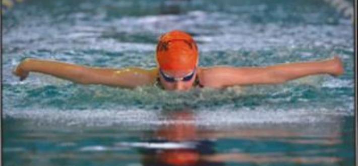 Beth swimming