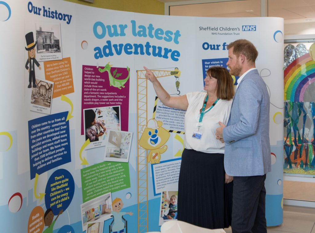 Matron Susan Ievers talks HRH Prince Harry through the journey to building our new wing