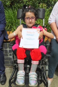 Patient - Aaditi - with the SCH award