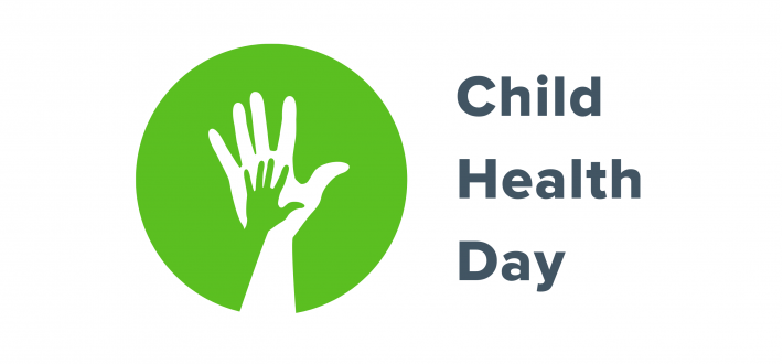 Child Health Day logo - large hand holding smaller hand