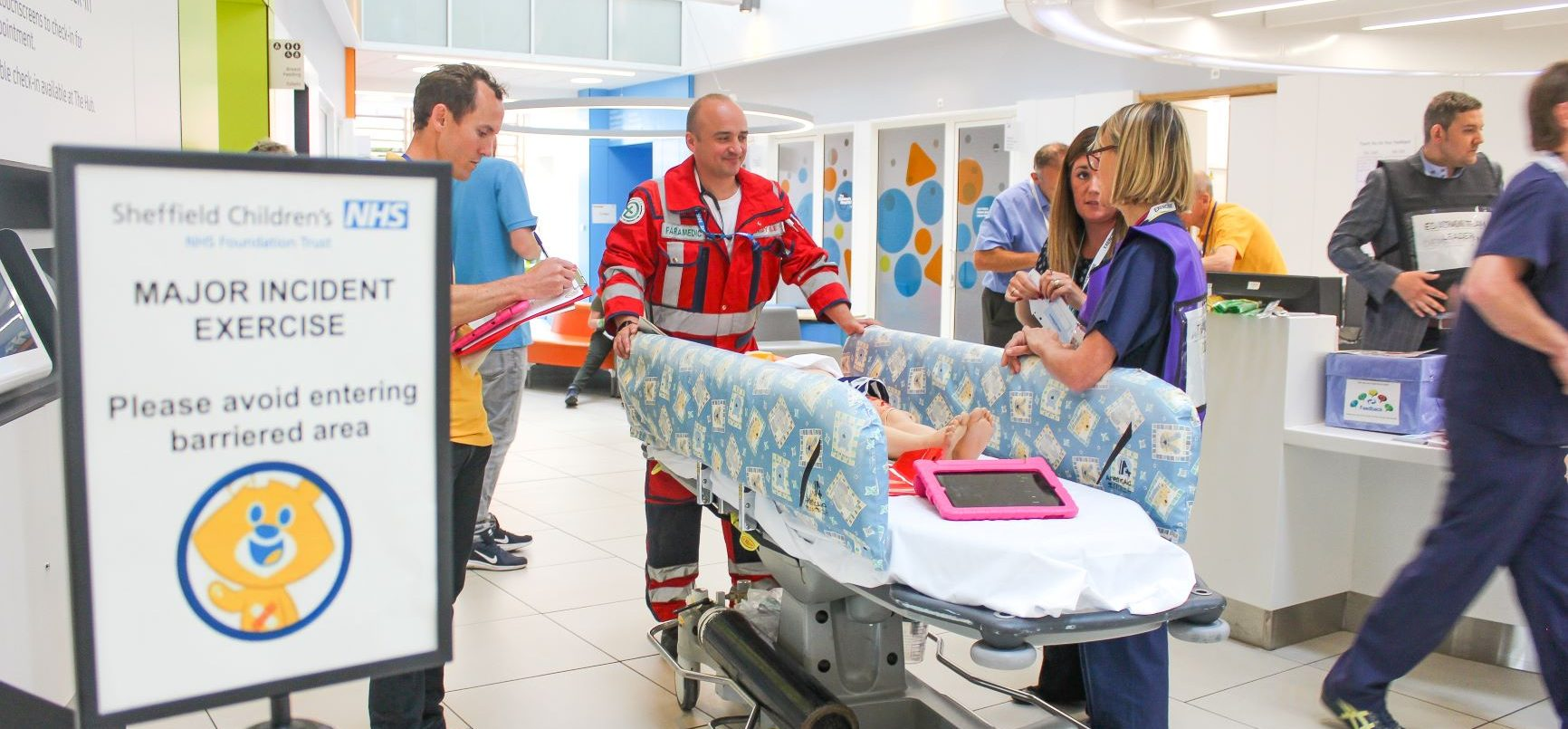 Emergency exercise at sheffield children's in outpatients