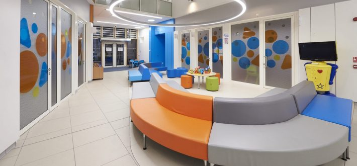 Outpatients area at Sheffield Childrens Hosptial