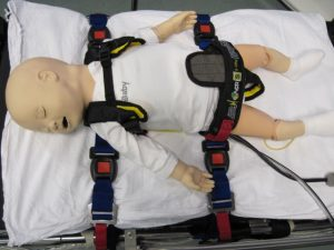 Ambulance Child Restraint used in Embrace transfers