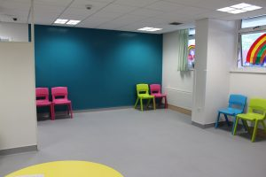 colourful waiting room