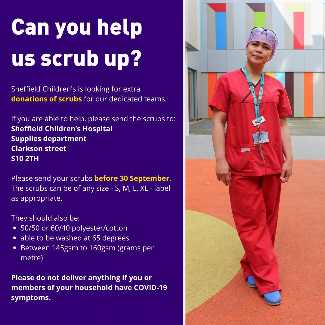 can you help donate scrubs