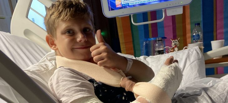 Tyler James' story: a curiously bent arm and a trip on the Ambucopter!