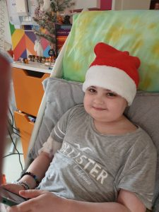 11 year old Gracie on the ward at Christmas