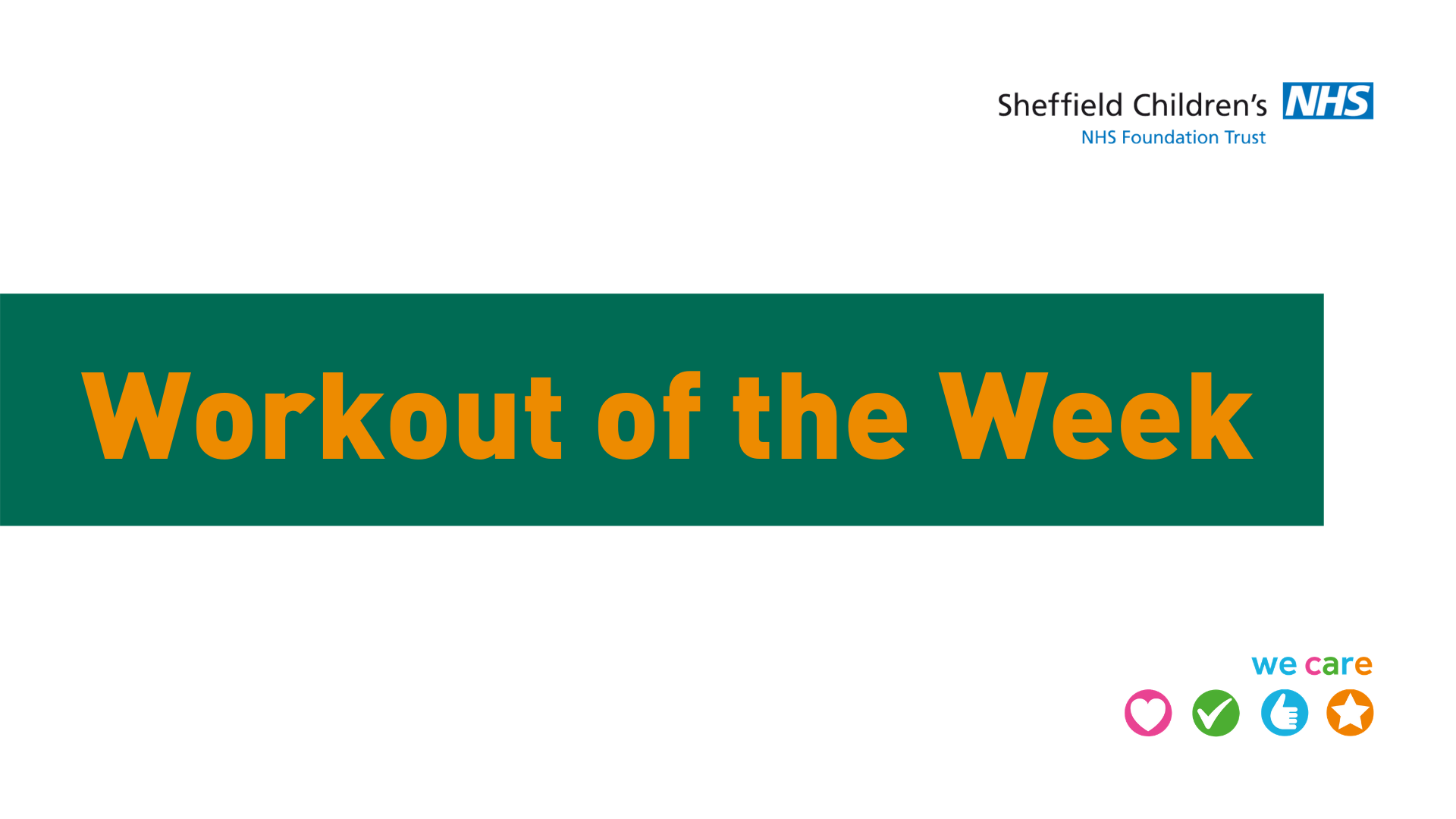 Workout of the Week returns!