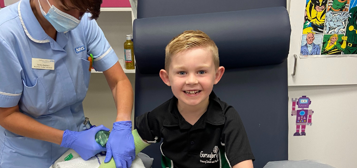 Freddie's story: On the mend after a broken arm